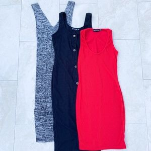 Lot of 3 Pretty Little Thing & Forever 21 Dresses
